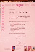 FABILO INT. CAKE ARTISTIK COURSE CERTIFICATE-İSVİÇRE