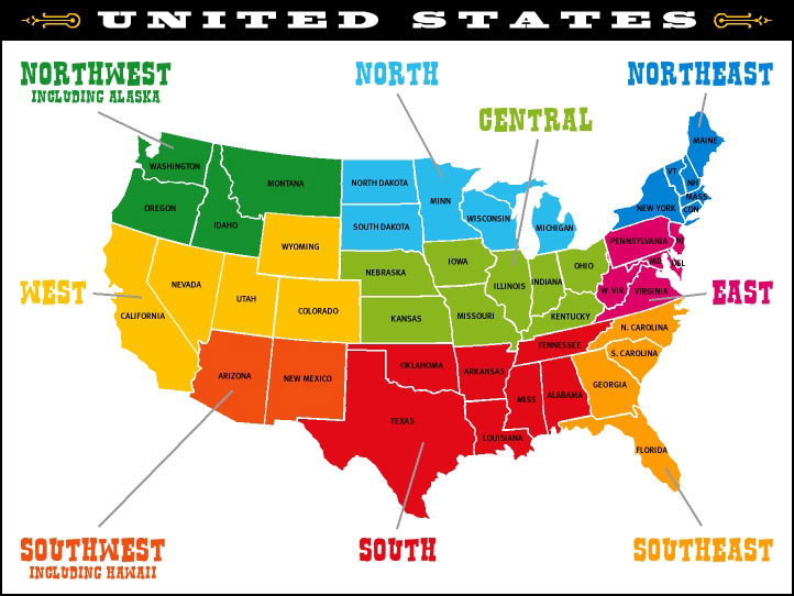 regional us map
