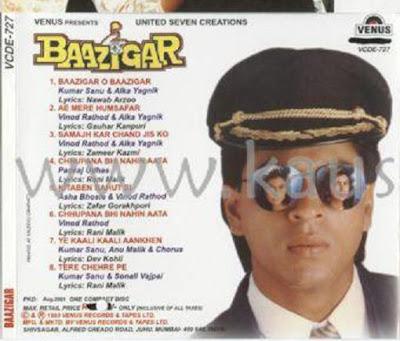 Mandie Video Games Downloads Baazigar 1993 Bollywood Movie Covers Shahrukh Khan Movies List