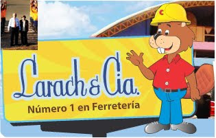 Larach & Cía. Logo y don Emilio Larach