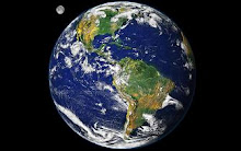 Clique no planeta para acompanhar o monitoramento da terra em tempo real.