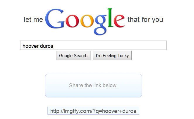 Let Me Google That For You Idiot