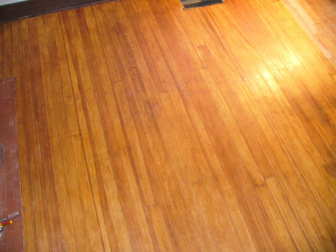 Our arts and crafts home floor finishing for Hardwood floors too shiny