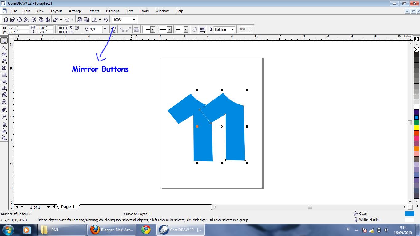 Rizqi Activities: Cara membuat desain baju menggunakan Corel Draw