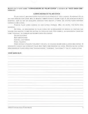 Digitalizar0005 Prova de Português SARESP 2007. para crianças