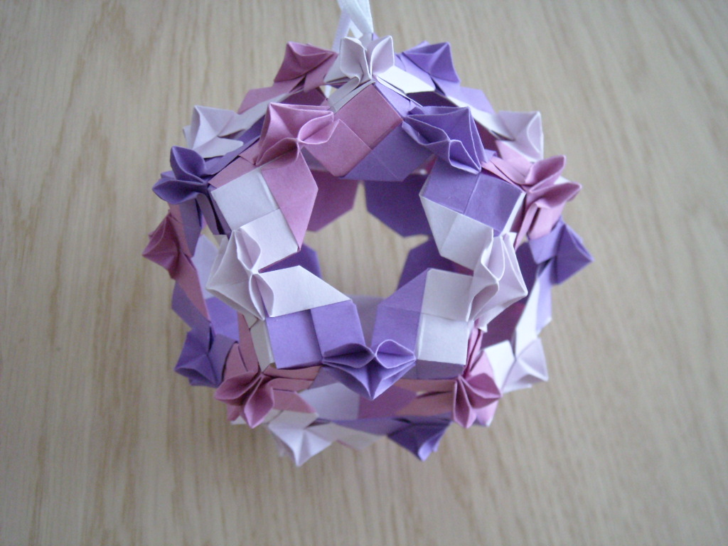 at 2 30 pm labels kusudama origami origami romania forum oriro paperOrigami Kusudama