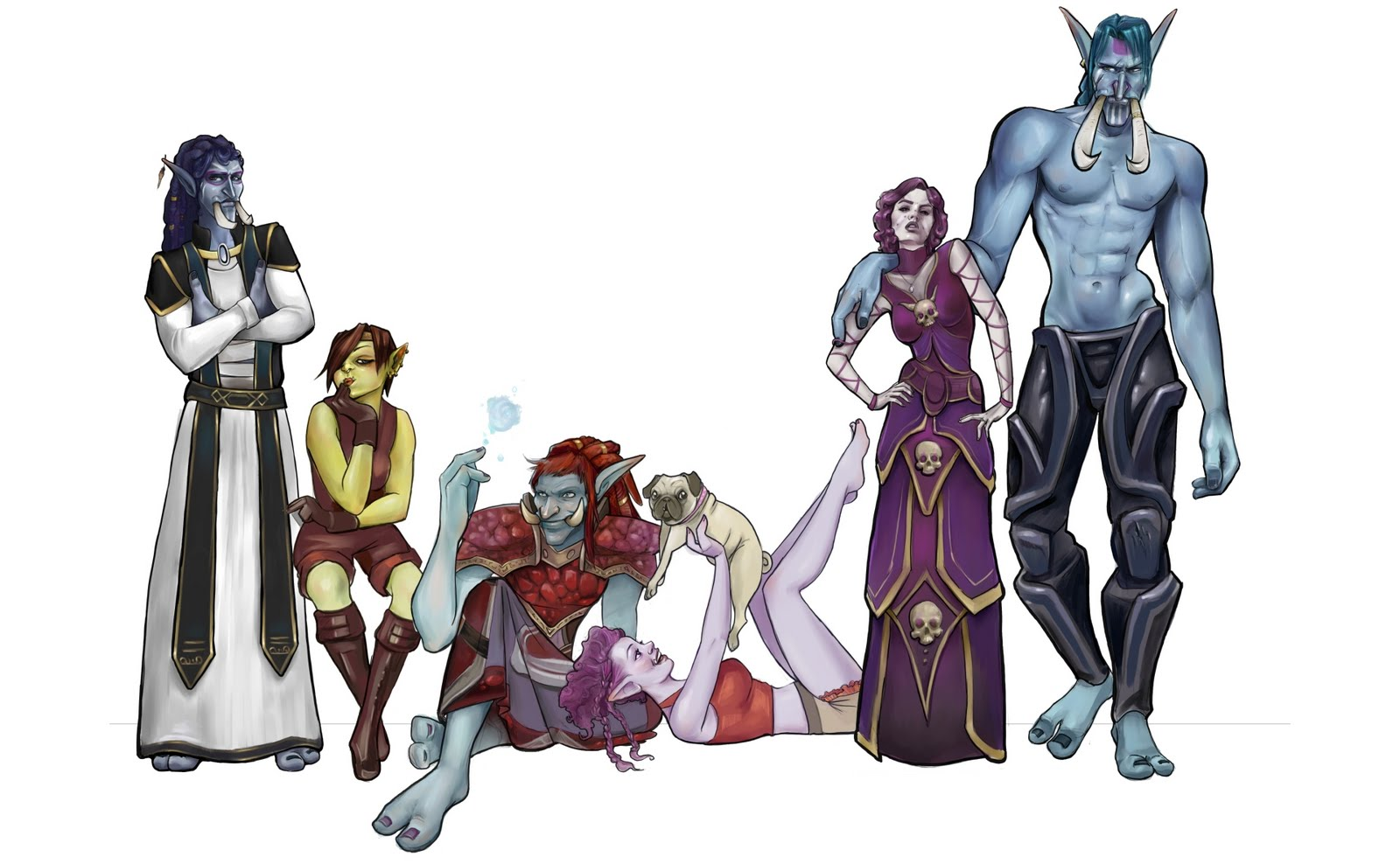 Tak's Old WoW Art Lineup