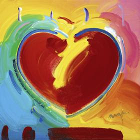 Heart Series V Ver. IX #17. Peter Max.
