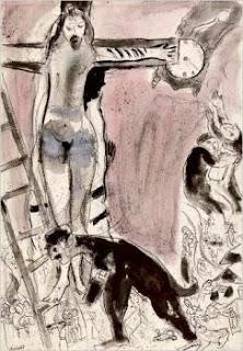 Apocalypse in Lilac, Capriccio (1945) by Marc Chagall