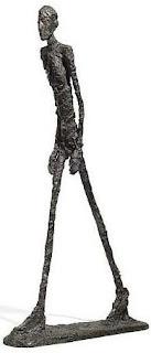 Alberto Giacometti, L'homme qui marche I, bronze sculpture