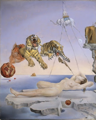 Dream Caused by the Flight of a Bee around a Pomegranate a Second Before Awakening. (1944), Salvador Dali. Thyssen-Bornemisza Museum, Madrid. ©Salvador Dalí, Gala-Salvador Dalí Foundation/Artists Rights Society (ARS), New York.