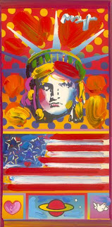 Patriotic Series: Five Liberties and Flag Detail Ver. I #8. Peter Max.