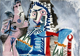 Standing Nude and Seated Musketeer (detail), 1968, Pablo Picasso.