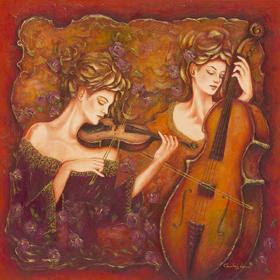 Violin and Cello Duet. Charles Lee.