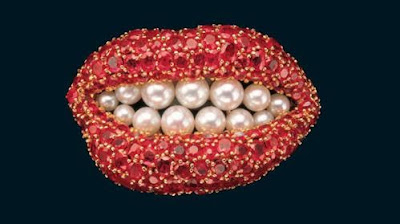 Salvador Dali. The Ruby Lips Brooch. 1949.