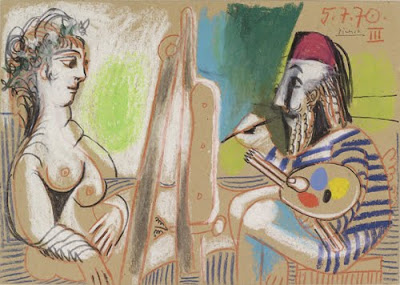 Pablo Picasso. Painter and Model III. 1970. © 2009 Estate of Pablo Picasso/Artists Rights Society (ARS), New York.