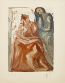 Divine Comedy. Purgatory 31. Salvador Dali.