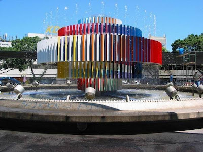 Yaacov Agam. Fountain in Dizengof square.
