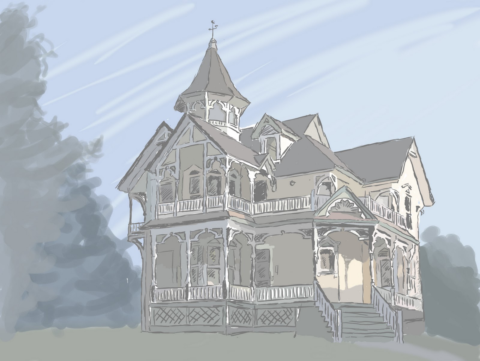 Features Victorian Elevation : Victorian features