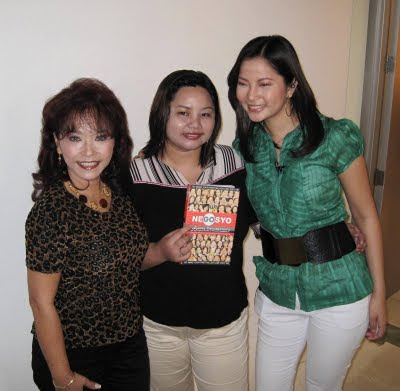 Diana Limjoco with show producer Flovs Flores Mangilit and show host Eunice Marino