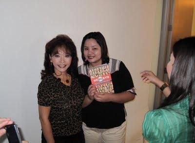 Diana Limjoco with show producer Flovs Flores Mangilit
