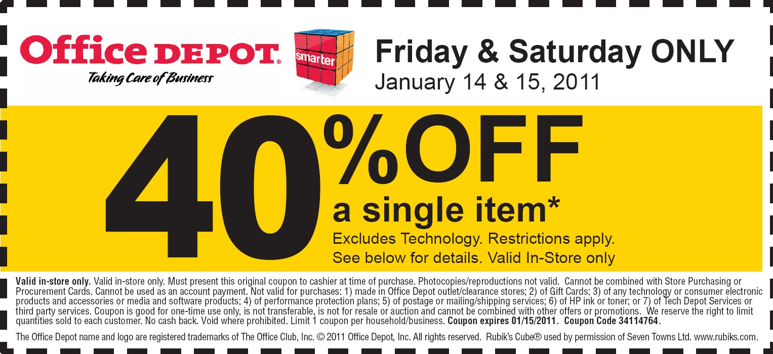 Office depot coupons codes
