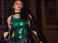 Ms Chif with shiny green breastplate