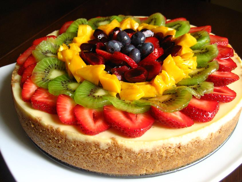 Cake With Fruit Topping : Kitchen Bliss: Fruit Topped Cheesecake