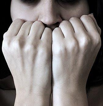 Mulher ansiosa