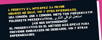 Fragmento del folleto de la campaña de prevención de embarazos no deseados del Ministerio de Sanidad y Consumo de España