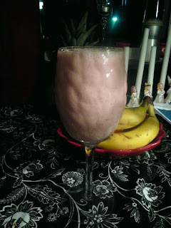 Jordgub/banan smoothie