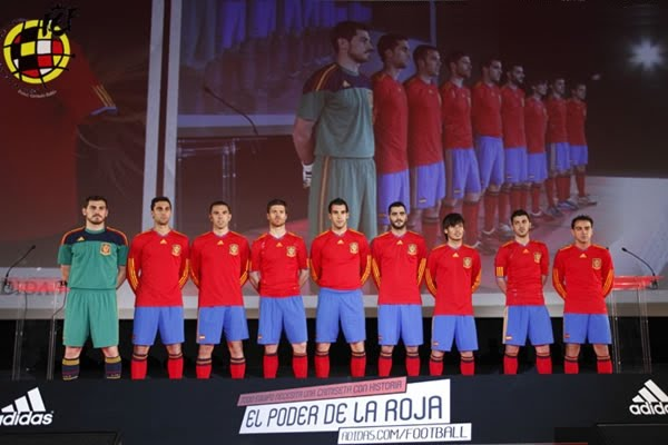 Spain 2010 World Cup Adidas Home Shirts