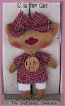 "C is for Cat ~ 11"" doll"
