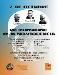 cartelcelebracion dia internacional de la no-violencia