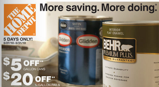 Paint Coupons Lowes Home Depot