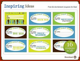 Free Downloadable Father\'s Day Coupons *CUTE*