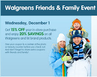 wags+f+and+f Walgreens Friends And Family Event   Save 15%   20% In Store Tomorrow