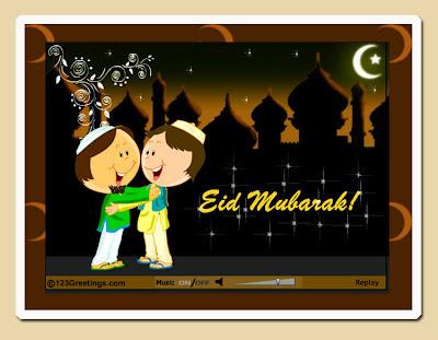 kids eid mubarak ecards