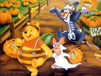 Disney Pooh Halloween wallpaper