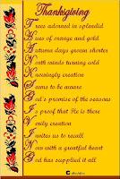 Thanksgiving Poem Card