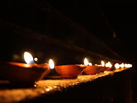 Row of Diwali Diyas Wallpapers