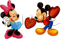 Disney Cartoon Character Valentines Day Cards