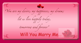Valentines Day Marriage Proposal Card