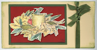 Thanksgiving Wreath Imprinted Holiday Cards