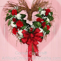valentines day flower wreath
