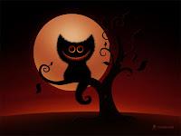 Halloween Kitten Background