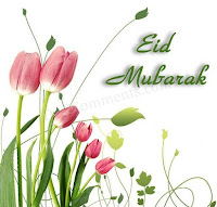 Eid Mubarak Tulips Card