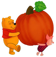 Pooh Piglet Thanksgiving Pumpkin Cards