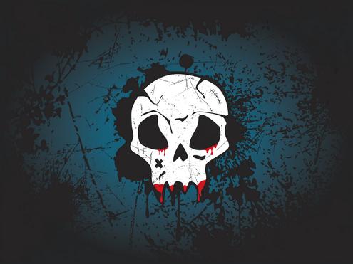 Free Vector Skull Wallpaper