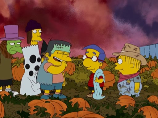 Simpsons Halloween Fright Wallpaper